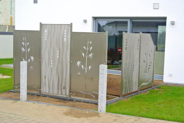 Edelstahl sichtschutz gallery for Terrassen sichtschutz modern